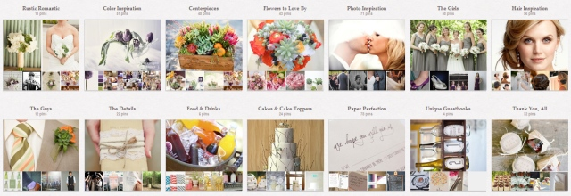 Pinterest Wedding Boards